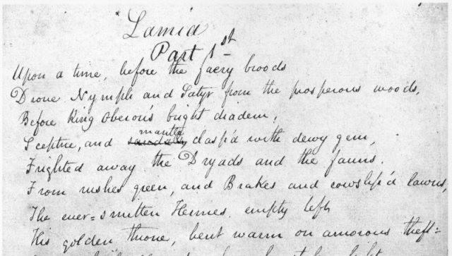 John-Keats-Lamia-Manuscript