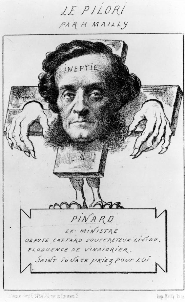 Caricatura di Ernest Pinard, via maxicours.com